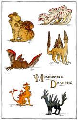 Mushroom Dragons II by Verdego