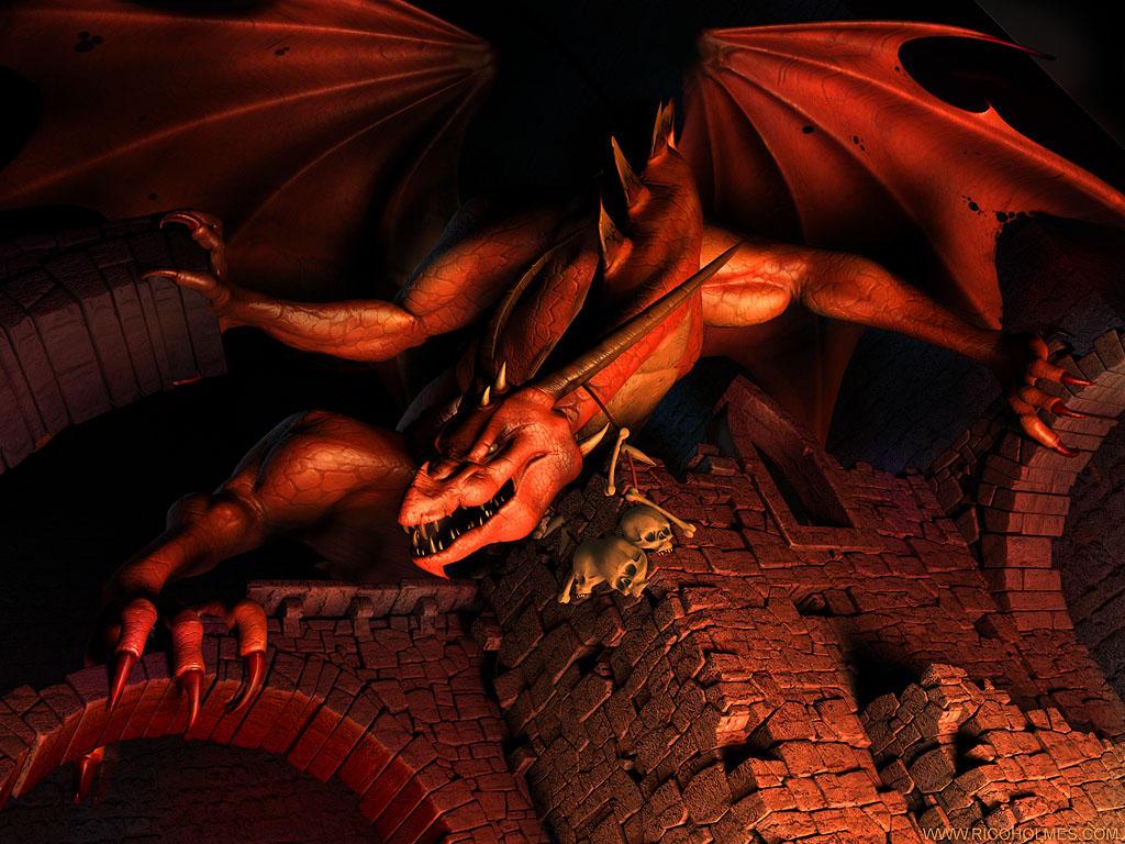 Red Underworld Dragon by reeks