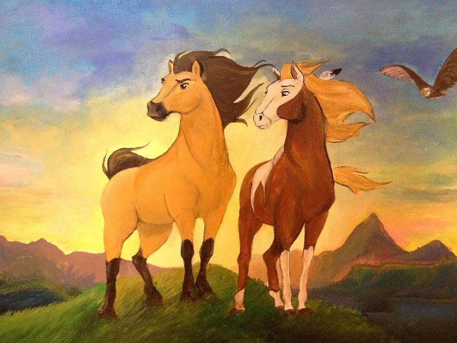 Картинки из мультфильма спирит душа прерии