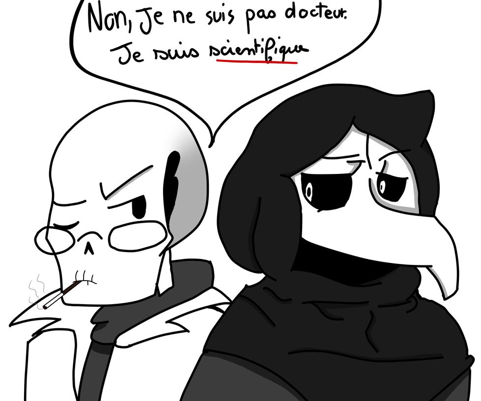 W.D Gaster and SCP-049 Docteur de La Peste. by VeneLaPommeDePin