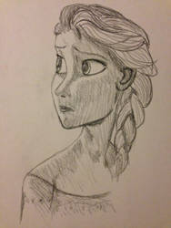 Sketched Elsa by DrinkingInk