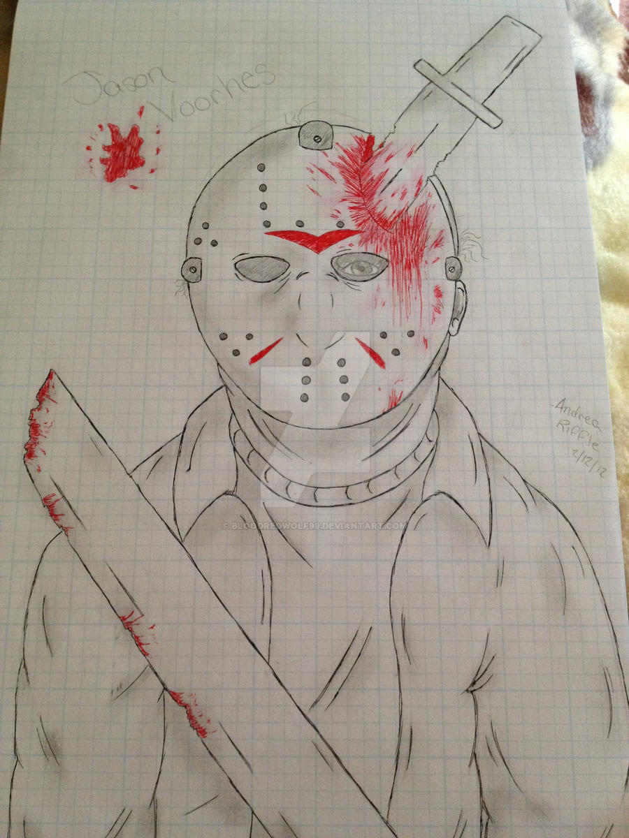 Bloody Jason Voorhees by BloodRedWolf99