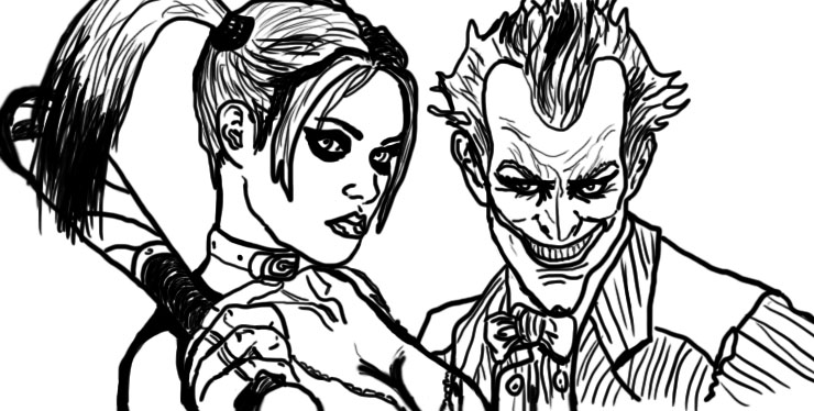 Harley quinn and joker by koifishasylum on deviantart for Harley quinn coloring pages
