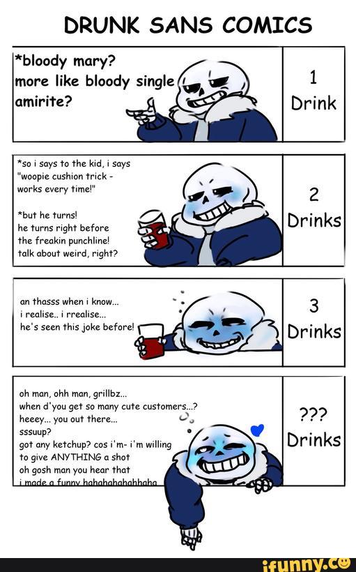 Sans Drunk by castiellov