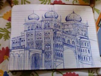 Direct ball pen drawing