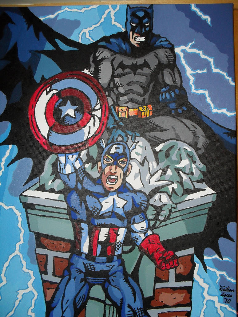 batman and captain america by kristiano21 on deviantart
