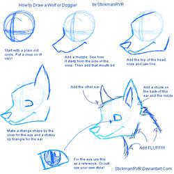 How to Draw a Wolf or a Doggie by StickmanRVR