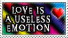 Love is Useless Stamp by Hiddencrying