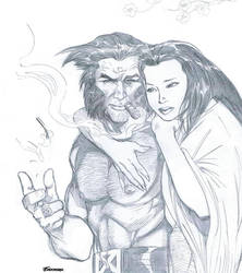 Wolverine and Mariko by Terry Shoemaker by SequentialTreasures