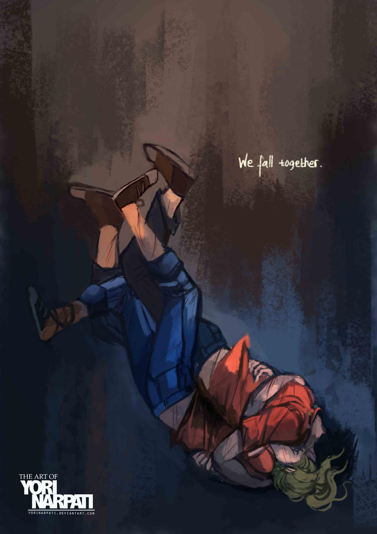 We fall together  by Percy And Annabeth Fall Into Tartarus