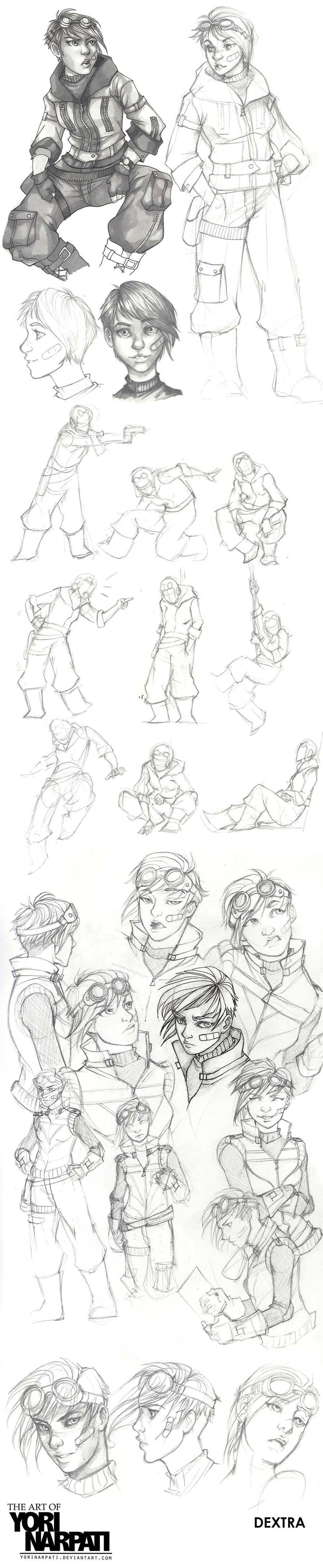 Dextra Character Design by YoriNarpati