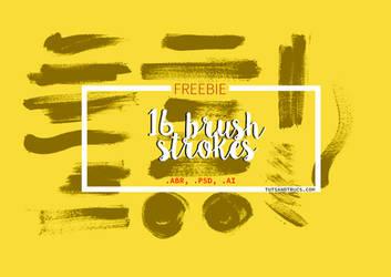 16 FREE Brush strokes