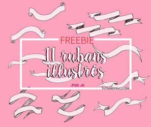 11 FREE PSD RIBBONS