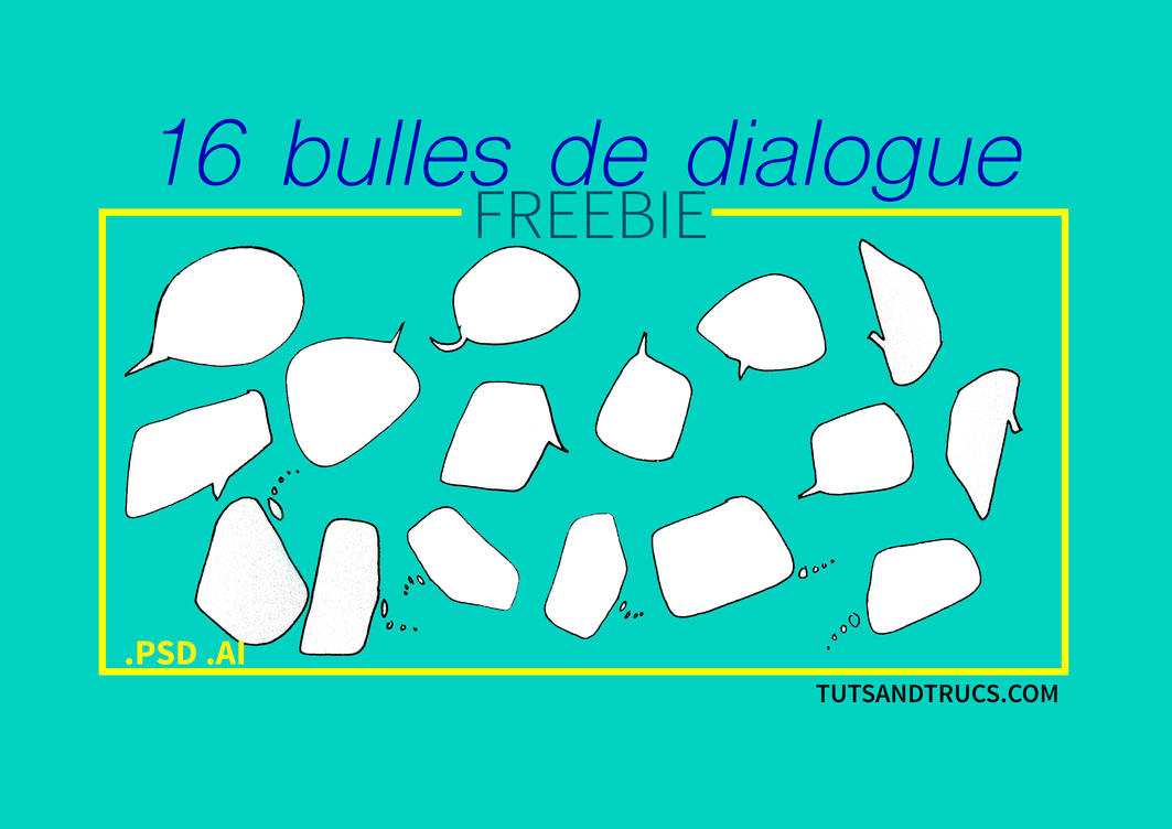 FREE bulles de dialogue / Speech balloons by photosoma
