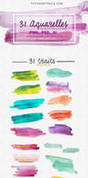 31 Watercolor Textures - Strokes