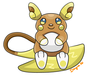 Alolan Raichu On Alola Pokemon Deviantart