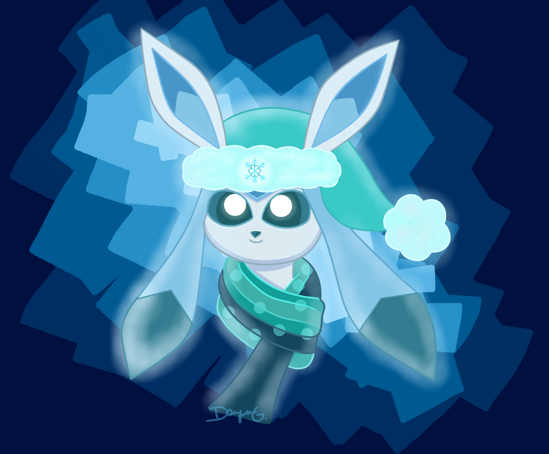 Winter Glaceon by Orangesyum88