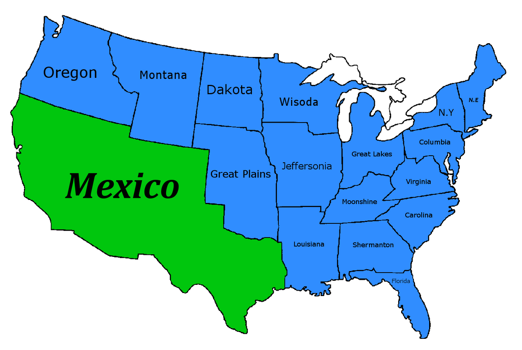 nationstates dispatch map of the u c a and territories