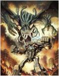 Cthulhu -vs- Battle Golem