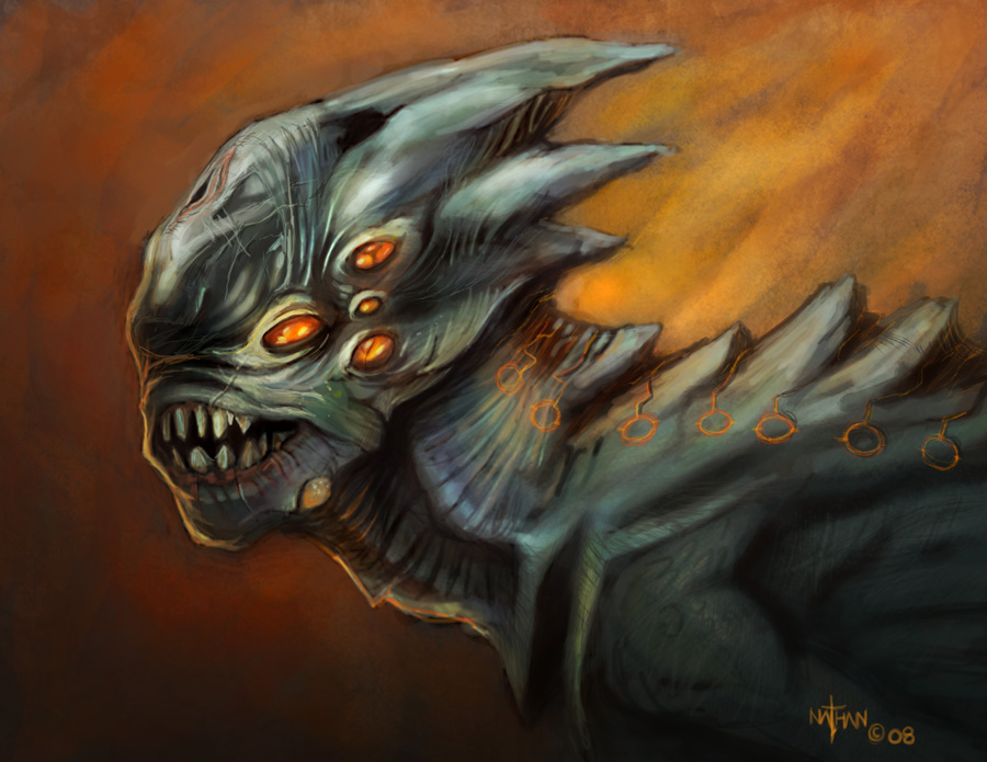 Creature - Speed painting by NathanRosario