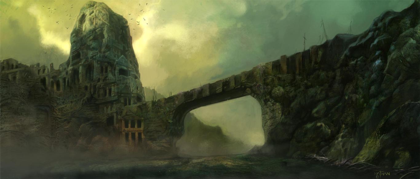 Ruin Eviroment Concept by NathanRosario