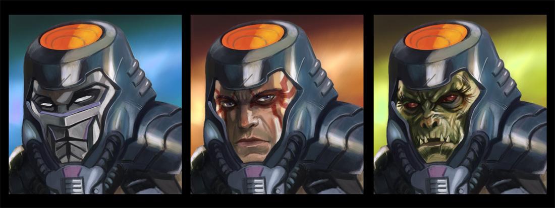 MotU Concept Faces by NathanRosario