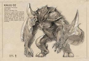 Kaiju 02 - concept by NathanRosario