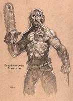 Frankenstein's monster by NathanRosario