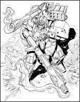 Mecha Warrior- Inked version by NathanRosario