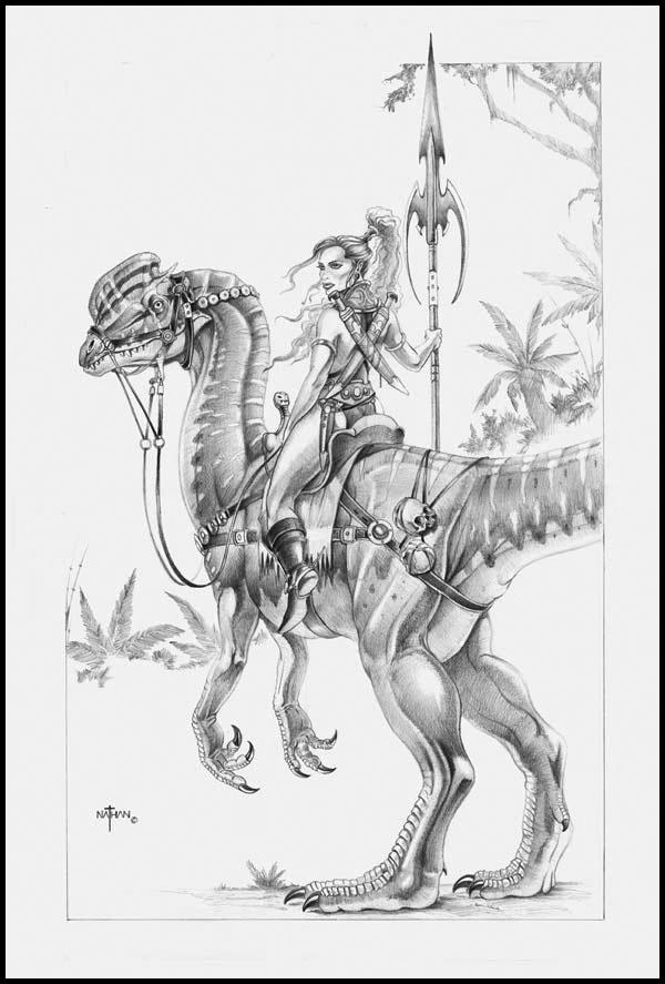The Dinosaur Kingdoms Role Playing Game Dinosaur_rider_by_nathanrosario