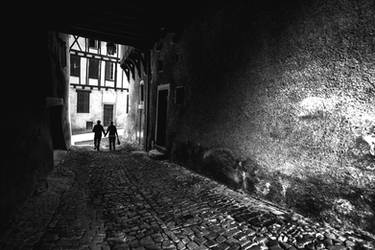 The path is dark but we hold hands by OlivierAccart