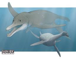 Sea Monsters by Kronosaurus82