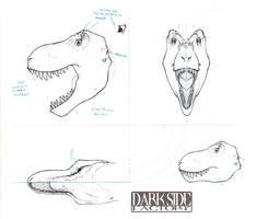 T. rex Head by Kronosaurus82