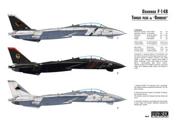 F-14B Tomcat profile by Kronosaurus82