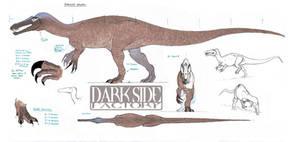 Baryonyx Model Sheet - Body by Kronosaurus82