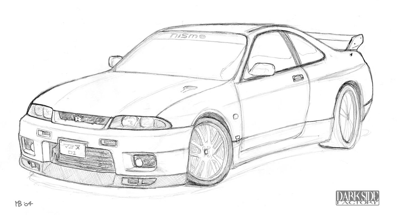 nissan r33 gtr coloring pages - photo#1