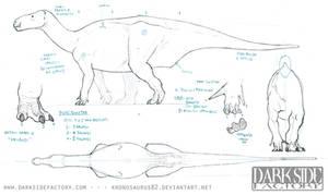 Iguanodon Model Sheet 1 by Kronosaurus82