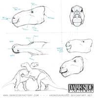 Iguanodon Model Sheet 2 by Kronosaurus82