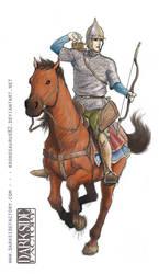 Hungarian horseman by Kronosaurus82