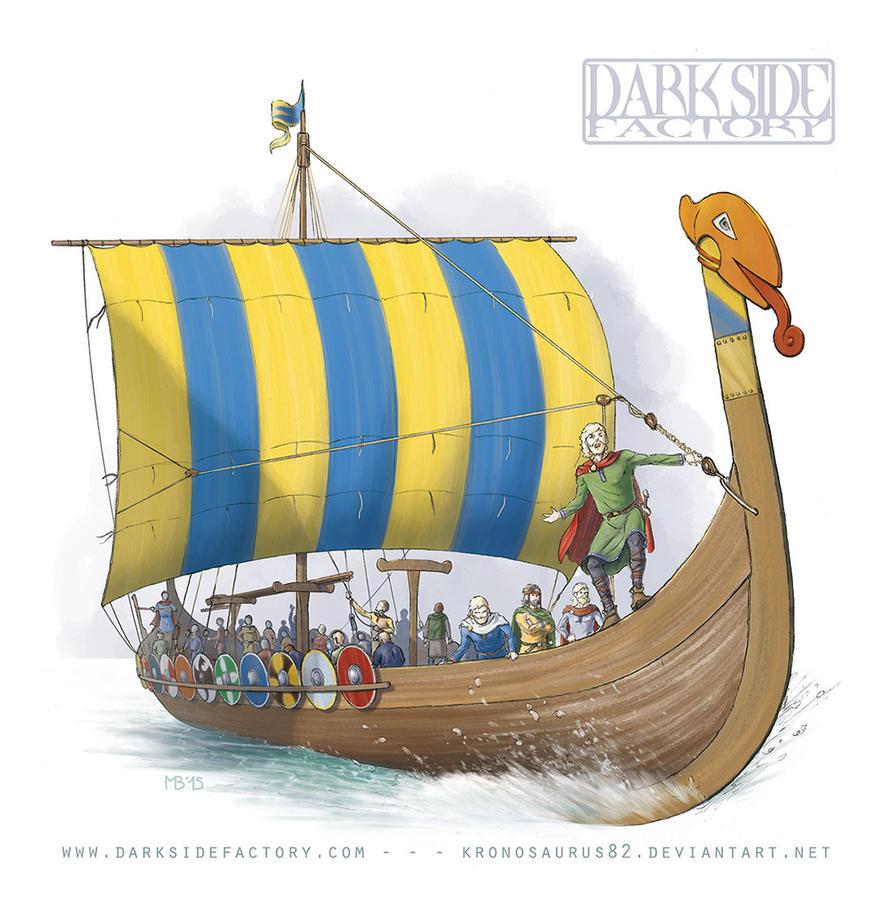 Viking Longship by Kronosaurus82