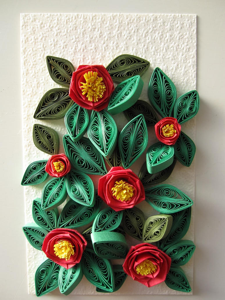 Paper quilling camellia by yoko 77 on deviantart - Paper quilling art wallpapers ...
