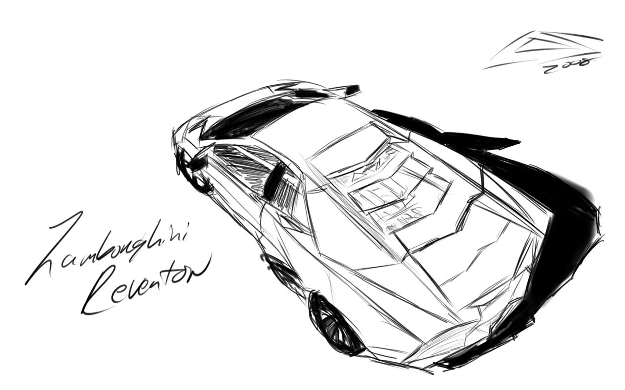 How To Draw A Lamborghini Reventon