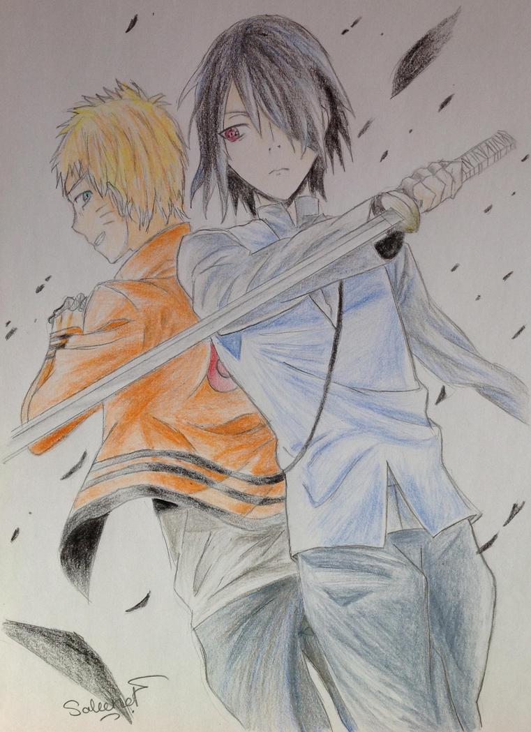 Naruto and Sasuke Battle Mode by oOCypressOo