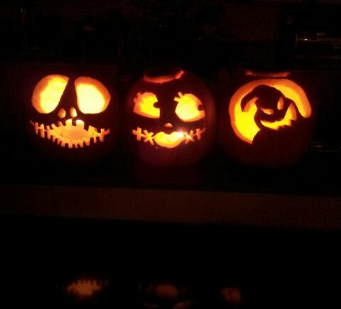 Nightmare Before Christmas Lit-Up Jack-O-Lanterns by lyndseyhage ...