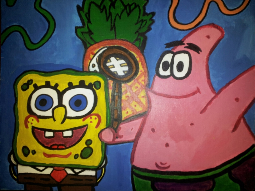 American Gothic Spongebob And Patrick Version By Lyndseyhage