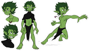 Prehistoric Beast Boy by Mr-Haitch