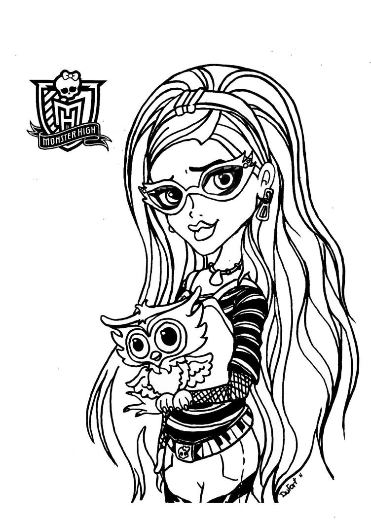monster high doll free printable coloring pages | All About Monster High Dolls: Ghoulia Yelps Free Printable ...