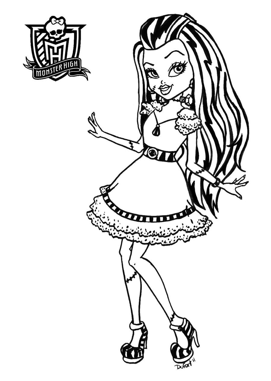 Coloriage monster high page 2 - Coloriage monster higt ...