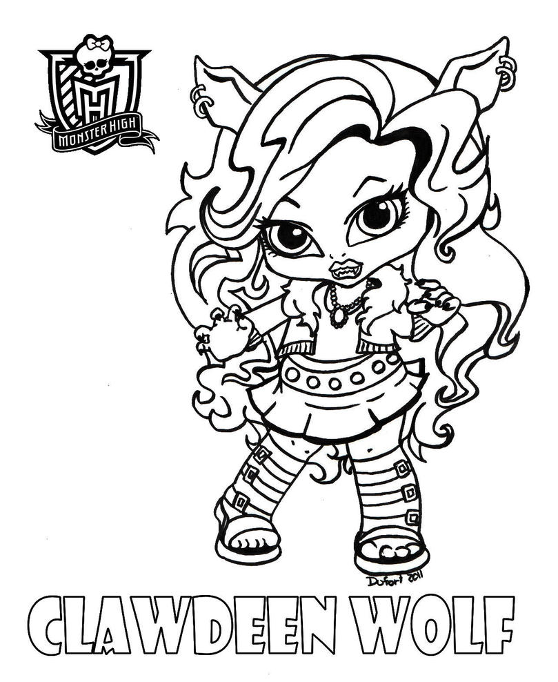 monster high printables coloring pages - all about monster high dolls baby monster high character
