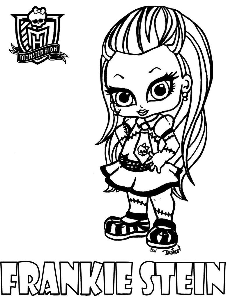 All about monster high dolls baby monster high character for Monster high coloring pages all characters